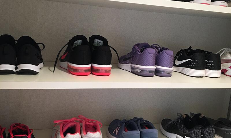 上野のフィットネスジムの靴預かり